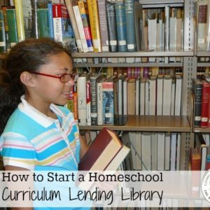 Homeschool Curriculum Lending Library