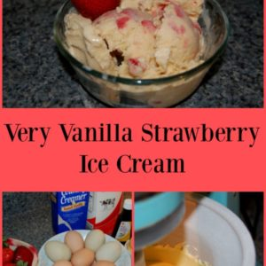 Very Vanilla Strawberry Ice Cream