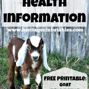 Basic Goat Health Information