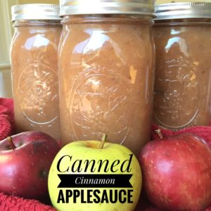 Canned Cinnamon Applesauce