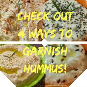 Garnishing Hummus – Healthy Additions To Add To Hummus