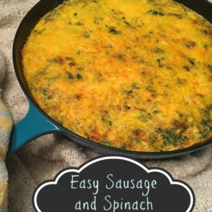 Sausage & Spinach Frittata