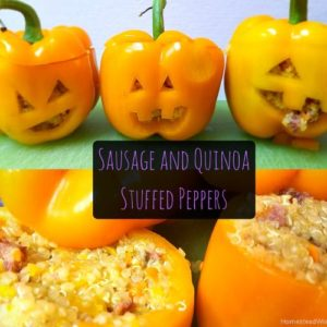 Sausage & Quinoa Stuffed Peppers