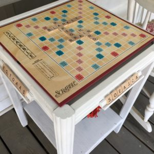 Make a Scrabble Game Table