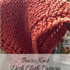 Basic Knit Dish Cloth Pattern