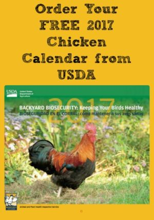 get your free chicken calendar usda