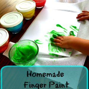 Make Your Own Finger Paint