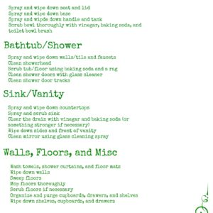 How to Deep Clean Your Bathroom, Plus a Printable