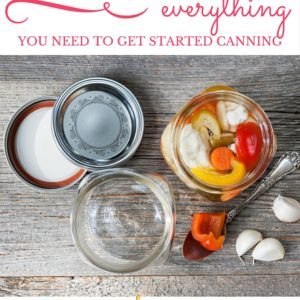 Canning 101: Everything You Need to Get Started Canning