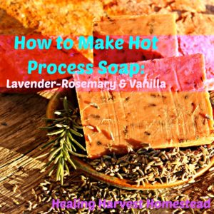 Make Your Own Soap: Lavender-Rosemary-Vanilla Hot Process Soap