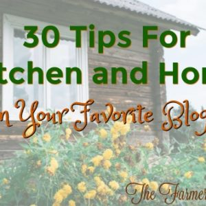 30 Tips For Kitchen and Home From Your Favorite Bloggers