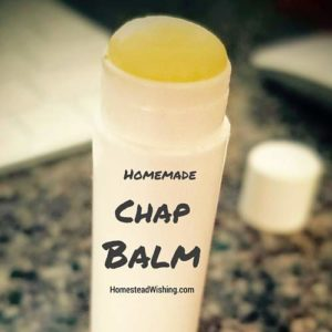 Homemade all natural chap balm