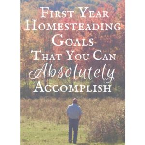First Year Homesteading Goals That You Can Actually Accomplish!
