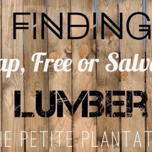 How to find FREE building materials for your next project!