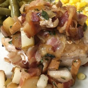 Roasted Chicken Breast with Honey Pears & Thyme