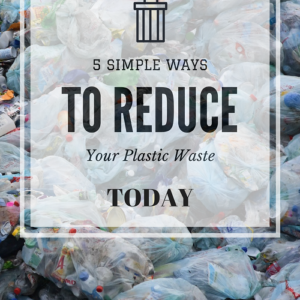 5 Simple Ways You Can Reduce Your Plastic Usage TODAY