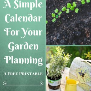 A Simple Calendar For Planning The Garden
