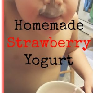 Homemade Strawberry Yogurt in the Crock Pot