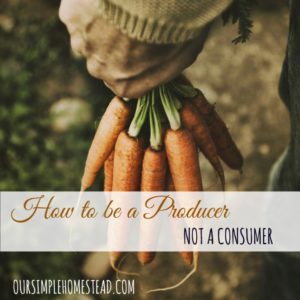 How to be a Producer not a Consumer