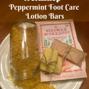 The Beeswax Workshop, Peppermint Foot Care Lotion Bars