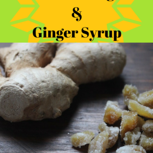 DIY Candied Ginger & Ginger Syrup