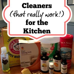 Homemade Cleaning Products (that really work!) for your Kitchen