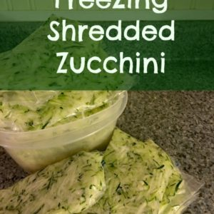 Freezing Shredded Zucchini