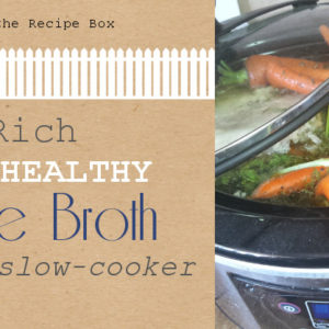 Healthy and Rich Bone Broth