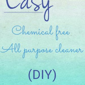 Easy Chemical Free All Purpose Cleaner
