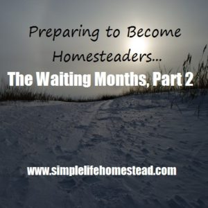 Preparing to Become Homesteaders: The Waiting Months, Part 2
