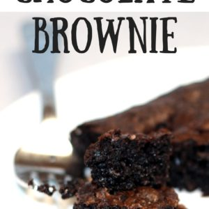 Gluten Free Chocolate Brownie – Chewy, Gooey, Quick and Delicious