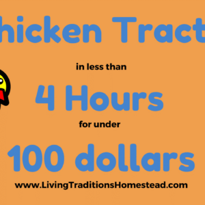 Make 2 Chicken Tractors in 4 hours for Under $100