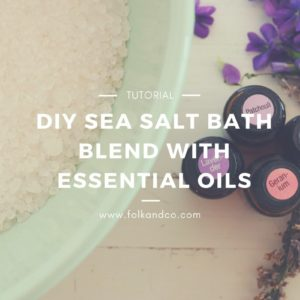Easy DIY Salt Blend for baths