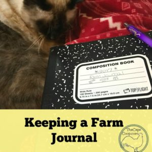 Keeping a Farm Journal