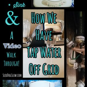 How We Have Tap Water Off Grid