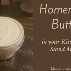 Making Homemade Butter in a KitchenAid Mixer