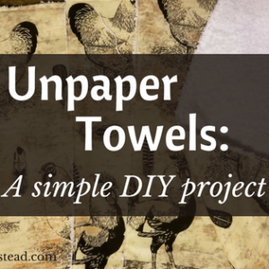 Making Unpaper Towels