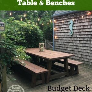 DIY Outdoor Table & Benches