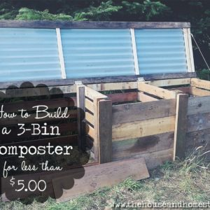 Build a 3-Bin Composter for Under $5