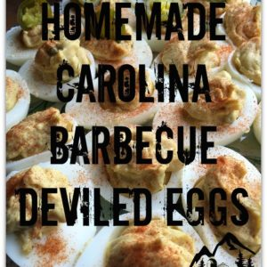 Homemade Carolina Barbecue Deviled Eggs
