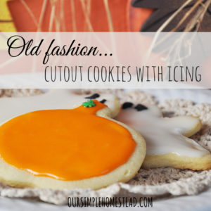 Frosted Sugar Cookies – Old Fashion Cut-outs