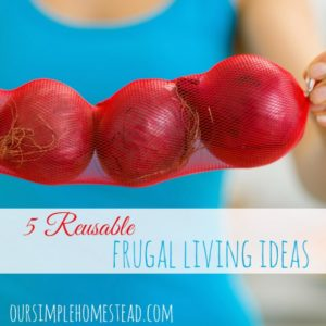 5 Reusable Frugal Living Ideas