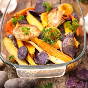 Ginger Tamari Root Vegetables