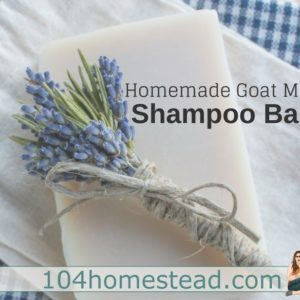 Goat Milk Shampoo Bars for Healthy Hair