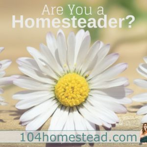 Are You a Homesteader?