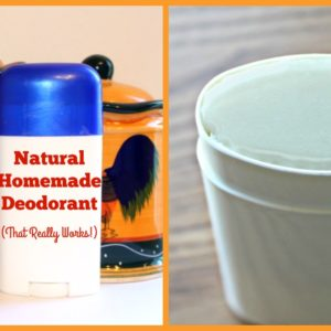 Natural Homemade Deodorant (that really works!)