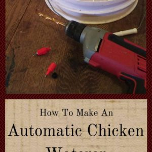 How To Make An Automatic Chicken Waterer
