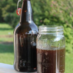 Homebrewed Lavender Lemon Balm Beer