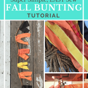 Easy Sew Fall Decor Bunting Tutorial