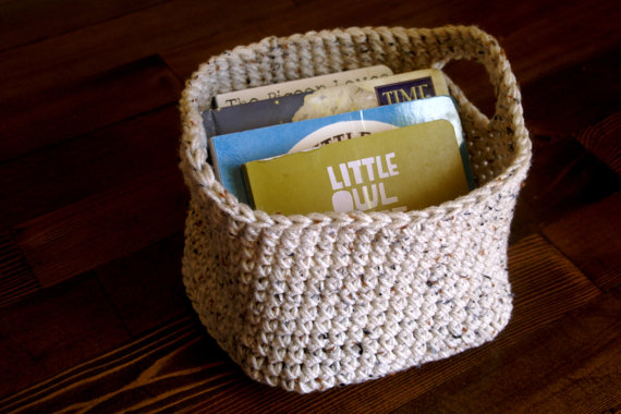 Crochet Baskets for Soft Storage in a Kids Room